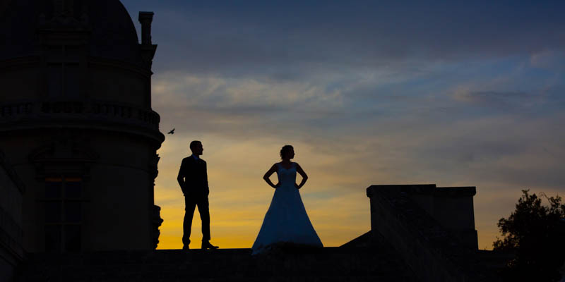 photographe de mariage chateau de chantilly